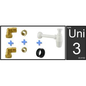 Saqu Fontein/Wastafel aansluitset met sifon PVC