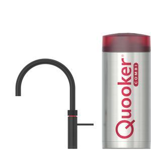 Quooker Fusion Round Zwart met COMBI boiler 3-in-1 kraan