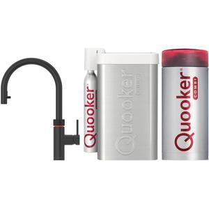 Quooker Flex Zwart met COMBI boiler en CUBE reservoir 5-in-1-kraan