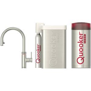 Quooker Flex RVS met COMBI+ boiler en CUBE reservoir 5-in-1 kraan