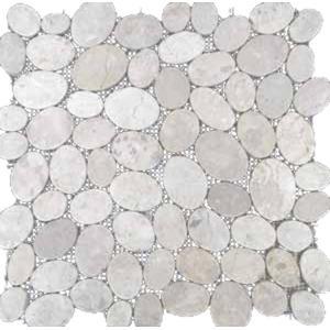 Mozaïek Hamer MA 30x30x- cm Oval White 1 M2