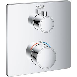 Grohe Grohtherm Opbouwdeel Thermostaat 15,8x15,8x1 cm Chroom