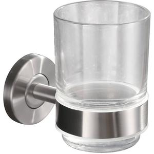 Saqu Glashouder met glas 6,7x10,75x10 cm RVS