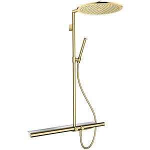 Axor Showerpipe 800 met Thermostaat en Hoofddouche Polished Brass