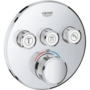 Grohe Grohtherm Smartcontrol Afdekset Douchethermostaat met omstel 3x rond