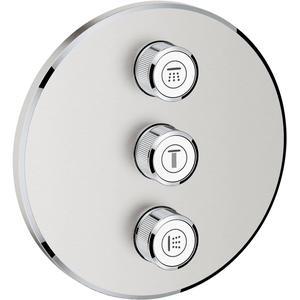 Grohe Grohtherm Smartcontrol Afbouwdeel Volume (stopkraan) 3-Delig Supersteel