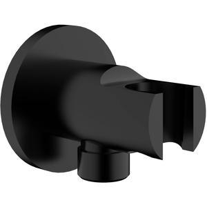 Saqu Doucheaansluiting met opsteek 1/2 inch Messing Zwart