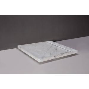 Forzalaqua Fresco Douchebak 90x90x5 cm Carrara Marmer Gepolijst