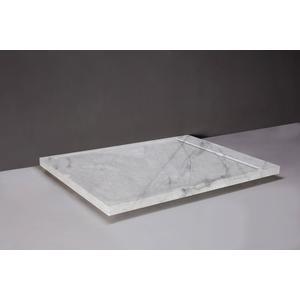 Forzalaqua Fresco Douchebak 120x90x5 cm Carrara Marmer Gepolijst