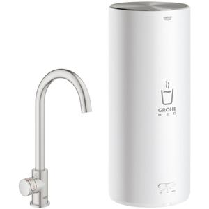 Grohe Red Mono kokend water kraan C-uitloop Combi boiler L-size supersteel