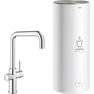 Grohe Red New Duo kokend water kraan met U-uitloop en Combi Boiler Chroom