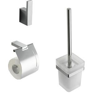Saqu Accent Eris toilet accessoireset 3-in-1 Chroom