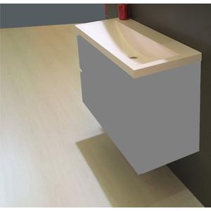 Saqu Studio wastafel 100x36cm zonder kraangat wit