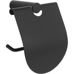 Saqu Black Closetrolhouder 11,9x7,4x12,5 cm mat zwart