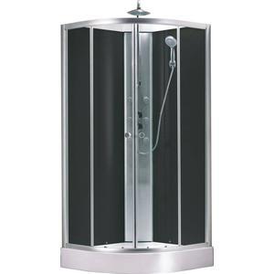 Saqu Douchecabine 90x90x225 cm Helder Glas / Aluminium Mat