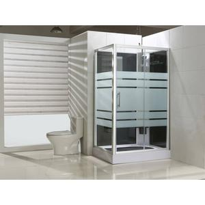 Saqu Douchecabine Rechts 120x90x225 cm Semi-gesatineerd Glas / Aluminium Mat