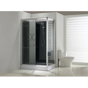 Saqu Douchecabine Links 120x90x225 cm Helder Glas / Aluminium Chroom
