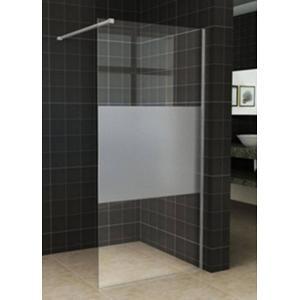 Saqu Douchewand Semi-Gesatineerd Glas 118,5x200 cm