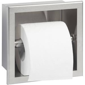 Saqu Inbouw Toiletrolhouder RVS