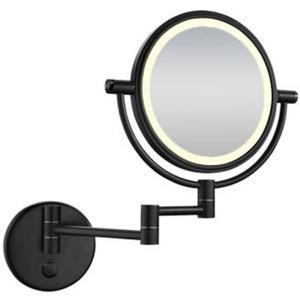 Saqu Scheerspiegel met LED-verlichting Wandmontage Mat Zwart