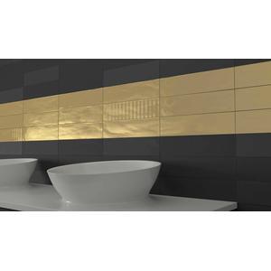 Wandtegel Wow Gradient 7,5x30 cm black matt 0,44 M2
