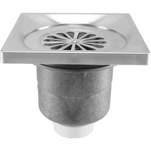 Saqu Doucheput 14x14 cm Recht Aluminium