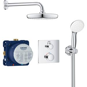 Grohtherm Perfect Shower Set Vierkant met Tempesta 210 mm Chroom