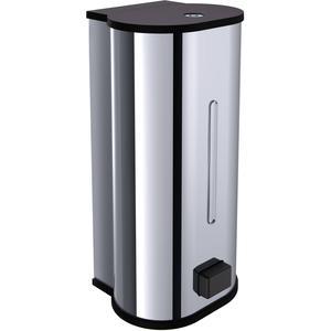 Emco System 2 zeepdispenser met handbediening 800 ml. Chroom-Zwart