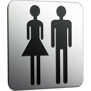 Emco System 2 deurplaat dames-heren Chroom