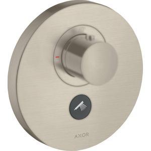 Axor ShowerSelect Thermostaat Afbouwdeel Round Highflow Met Stopkraan Voor 1 Douchefunctie + Extra Uitgang Brushed Nickel