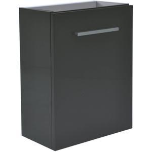 Saqu Wastafelonderkast 1 deur 40x21 cm Hoogglans Grijs