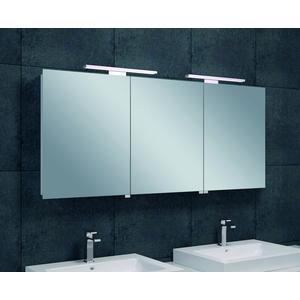 Saqu Spiegelkast met LED verlichting 140x60x14 cm Wit