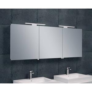 Saqu Spiegelkast met LED verlichting 160x60x14 cm Wit