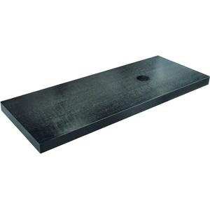 Saqu Wastafelblad 120x46x5,5 cm Houtnerf Zwart Gelakt
