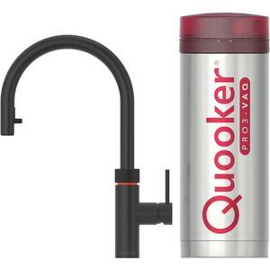 Quooker Flex Zwart met PRO3 boiler 3-in-1-kraan
