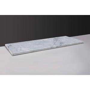 Forzalaqua Wastafelblad 120,5x51,5x3 cm 2x ø72mm Carrara Marmer Gepolijst
