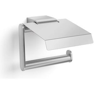 ZACK Atore Toiletrolhouder met klep Geborsteld RVS