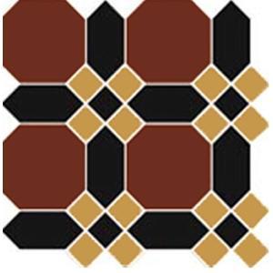 Decortegel Topcer Guilford 29,4x29,4x- cm Bruin-Zwart 1ST