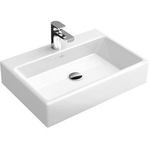 Villeroy & Boch Memento wastafel zonder kraangat 42x60cm wit alpin CeramicPlus
