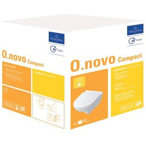 Villeroy & Boch O.Novo combipack compact wandcloset m/zitting ceramic+ Wit