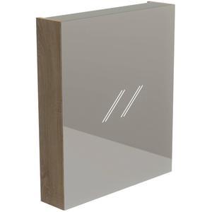 Thebalux Basic Spiegelkast rechtsdraaiend 70x60x13,5 cm Natural Oak
