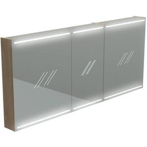 Thebalux Deluxe Spiegelkast 70x140x13,5 cm Wit Glans