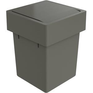 Primabad Afvalemmer 17,5x17,5x22,5 cm Grijs