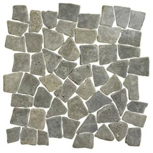 Vloertegel Terre d'Azur Stone Palladiana 30x30x1,2 cm Lava 1M2