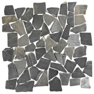 Vloertegel Terre d'Azur Stone Palladiana 30x30x1,2 cm Silva Grey 1M2