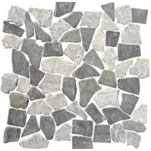 Vloertegel Terre d'Azur Stone 30x30x1 cm Licht Grijs / Antracite 1M2