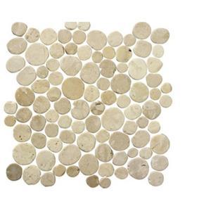 Vloertegel Terre d'Azur Coins 30x30x1 cm Wit 1M2
