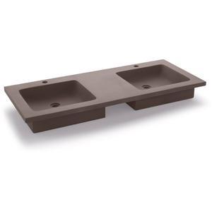 Bathco Potes wastafel 120x51x13cm Cemento