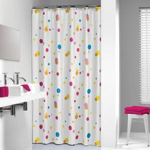Sealskin Douchegordijn Textiel Dots 200 x 180cm Multikleur