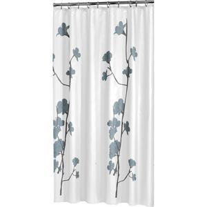 Sealskin Douchegordijn Textiel Orchid 200 x 180cm Blauw